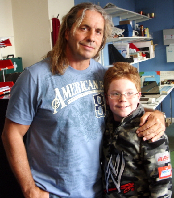 George with Bret 'the hitman' Hart